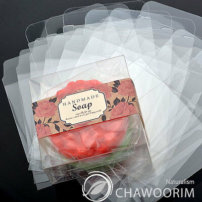 10Sheet Transparency Square Soap,Candle,Candy,multipurpose Gift Packing Box