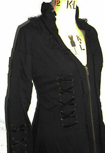 NEW-STEAMPUNK-LONG-CORSETTED-JACKET-8-10-12-14-16-GOTHIC-WHITBY-COAT-LACE-GOTH