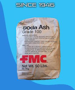 Soda Ash 50 Lb Bag Grade 100 Ebay