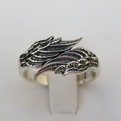 Angel Wings Ring - 925 Sterling Silver - Angels Wing Memorial Guardian NEW