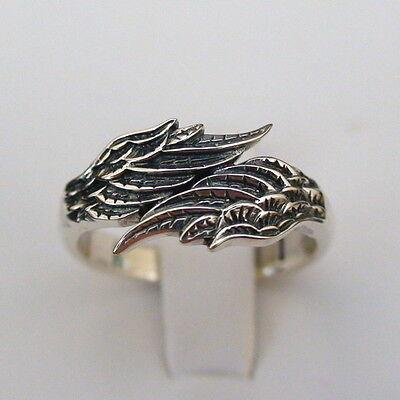 Angel Wings Ring - 925 Sterling Silver - Angels Wing Memorial Guardian NEW