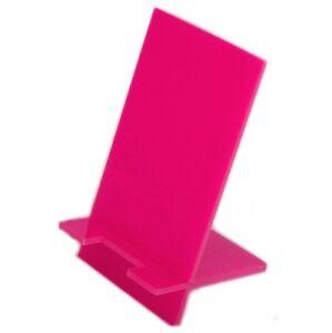 Support rose en acrylique pour tlphone portable pour bureau 12cm