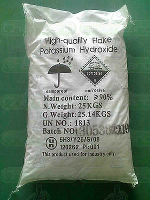 Potassium Hydroxide Flakes, KOH, Caustic Potash - - Sold By The Pound