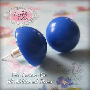 Bubble-Gum-Ball-Candy-Style-Stud-Earrings-80-039-s-Retro-Colour-Pop-Many-Colours
