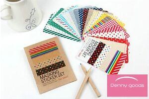Album-Card-DIY-27sheet-Diary-Decorative-Masking-Sticker-craft-Tape-Set-Ver-basic