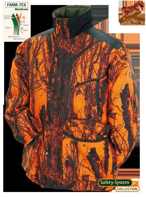 Safety Safety Safety Jacke Wendejacke Signaljacke Treib Drück Jagd grün Orange camou Membrane 4ad851