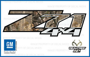 07 13 Z71 4x4 Decals Realtree Ap Camo Stickers Side Bed