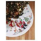 Janlynn Santa And Animals Tree Skirt Christmas Cross Stitch 023-0218