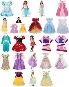 Disney-Store-Princess-Halloween-Costume-Dress-Girls-Size-2-3-4-5-6-7-8-10-NWT