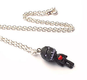Mini-Acrylic-Black-Voodoo-Doll-with-Red-Heart-Charm-Necklace-Kawaii-Emo-Punk
