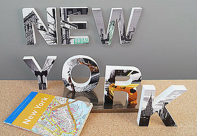 3D DECO LETTER SETS, London Paris, New York Home-Variety of Options