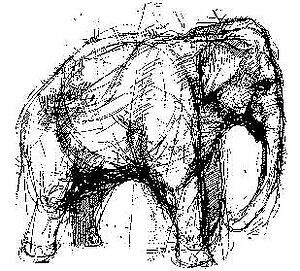 Tim-Holtz-Rubber-Stamp-ELEPHANT-Stampers-Anonymous