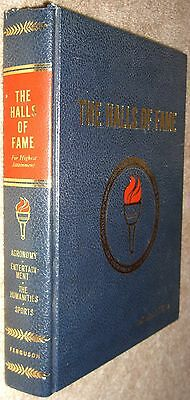 The Halls Of Fame Collectors Edition Sports by Jones Watercolor Illustrated 1977
