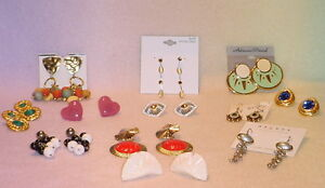 11 PIECE EARRING SET SOME VINTAGE SOME FASHION PIERCED/CLIP SETS