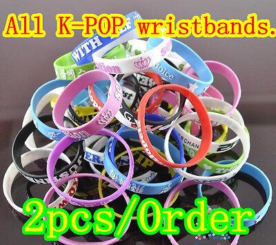 K-POP Wristbands Beast MBLAQ Boyfriend SS501 UKISS Teen Top Bracelet EXO