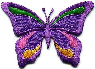 Butterfly hippie boho chic retro love peace groovy applique iron-on patch G-115