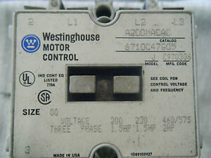 Westinghouse A200macac Motor Control Starter