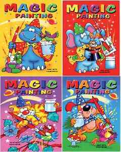 image is loading set of 4 x a5 magic painting colouring