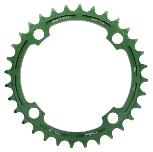 E.thirteen E13 DH Guidering Mountain Bike MTB Chainring 104mm BCD x 34t - Green