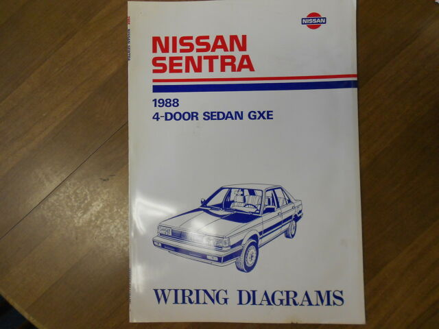 1988 Nissan Sentra Wiring Diagram 4 Door Sedan Gxe Service