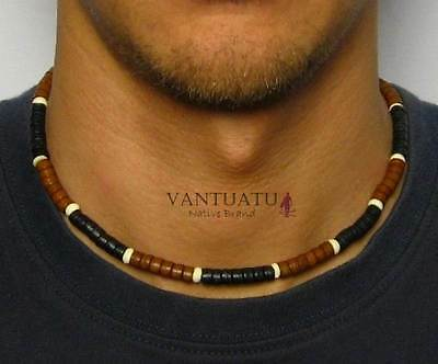 WAVE HUNTERS Mens Beads Surfer Necklace Beaded for Men GIFT Man Choker SURFING