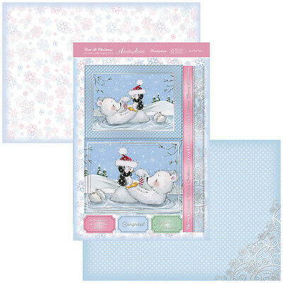 HUNKYDORY Cute at Christmas Toppers JUST FOR YOU Foiled Toppers 2 x A4 Card