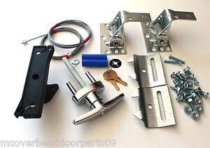 Deluxe garage door lock kit w 2 keys universal