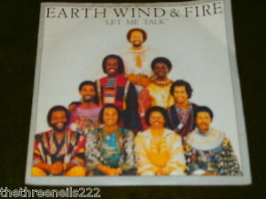VINYL-7-SINGLE-EARTH-WIND-AND-FIRE-LET-ME-TALK-8982