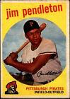1959 Topps Jim Pendleton Pittsburgh Pirates #174 Baseball Card