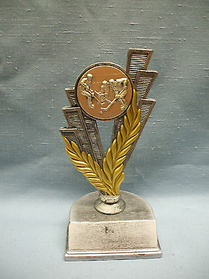 HOCKEY trophy pewter color finish silver metal insert