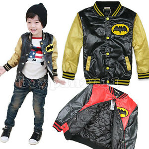 New-Kids-Boys-Girls-Sports-Fashion-Long-Sleeve-Cotton-Jacket-Age-2-7Years