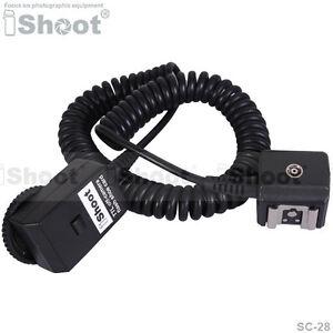 2.5m Flash SYNC I-TTL Off-Camera Shoe Cord Cable Corde pour Nikon SC-28 SC-29