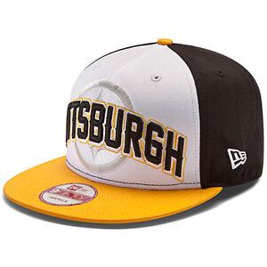 Pittsburgh-Steelers-2-Tone-New-Era-9FIFTY-2012-Draft-Snapback-Hat-New-Cap