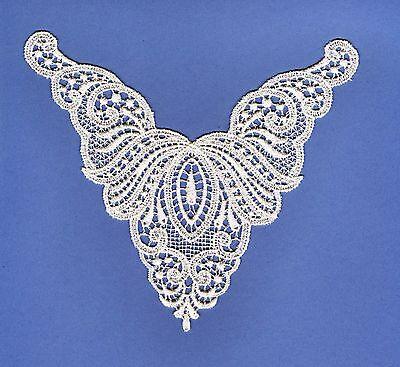 Victorian White Lace Camisole Yoke Heirloom Venise Guipure Lingerie Applique EA