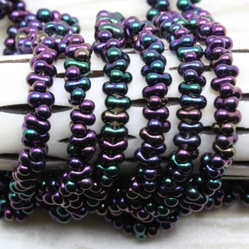 50 OR 25grams ** Pick Your Color** FANCY METALLIC 2x4mm FARFALLE Seed Beads
