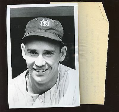 Original Sep 19 1939 Joe Gordon New York Yankees Wire Photo