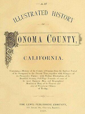 1889 Genealogy & History of Sonoma County California CA