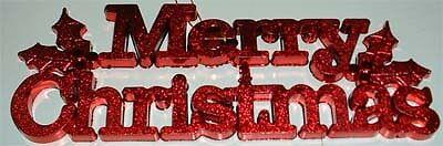 MERRY CHRISTMAS PLAQUE DOOR DECORATION 24CM