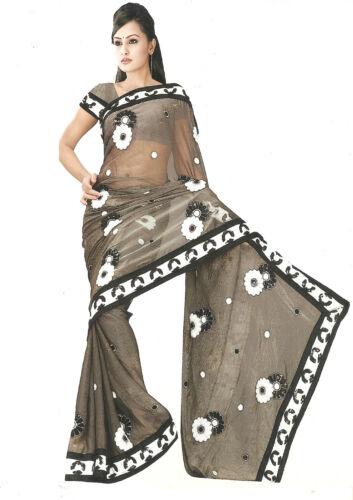 DESIGNER STYLE SAREE INDIAN PAKISTAN EMBROIDERY WEDDING//PARTY SARI//SAREE