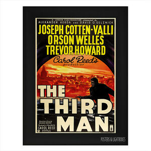 THE THIRD MAN CLASSIC Framed Movie Film Poster A4 Black Frame