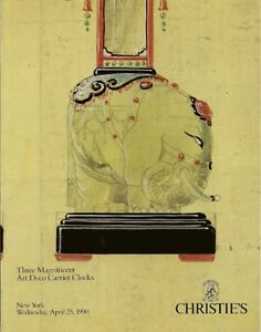 RARE-CHRISTIE-039-S-3-Magnificent-Art-Deco-Cartier-Clocks-Auction-Catalog-1990