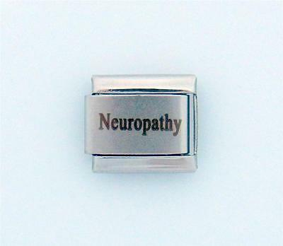 Neuropathy Laser Medical Alert for Italian Charm Bracelets Free Card