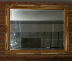Large Wall Hanging Over The Fireplace Mantel Mirror 48 X 38 Ebay