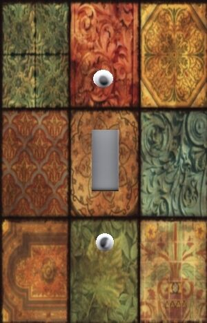 Light Switch Plate Outlet Covers TUSCAN HOME DECOR ~ TUSCAN TILE TEXTURES