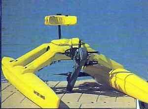 WATER-BIKE-Standard-Pontoon-Catamaran-Pedal-Paddle-Boat-Water-Hydro-Cycle-Kayak
