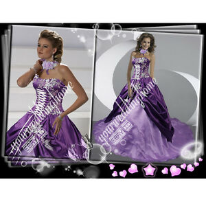 New-Custom-Purple-Marie-Victorian-corset-basque-Wedding-Dress-H1575