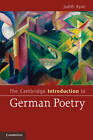 The Cambridge Introduction to German Poetry by Judith Ryan (Paperback, 2012)