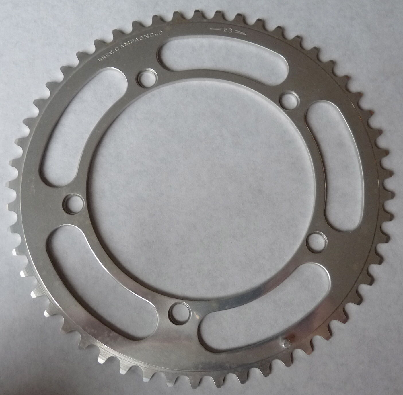 Campagnolo Nuovo Record Chainring 53T Road 144 Bcd 3 32  Vintage Bicycle NOS