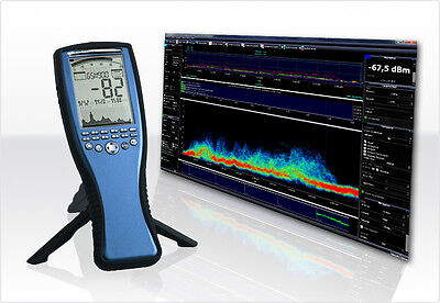 WLAN / WiFi / WiMAX Spectrum Analyzer 10MHz to 6GHz, incl. Antenna & PC Software