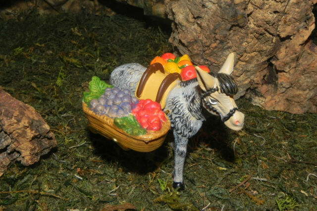 Nativity Scene Creche Manger Pesebre Donkey Figurine Presepio Farm Diorama